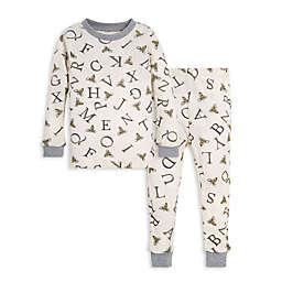 Burt's Bees Baby® 2-Piece A-Bee-C Organic Cotton Toddler Pajama Set in Eggshell