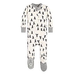 Burt's Bees Baby® Tree Print Footed Pajama in Eggshell