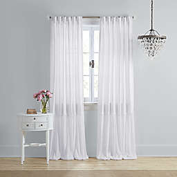 Wamsutta® Vintage Bourneville 84-Inch Rod Pocket/Back Tab Window Curtain Panel in White