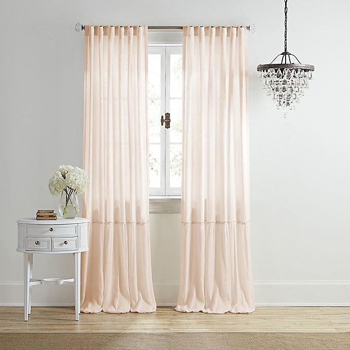 Alternate image 1 for Wamsutta® Vintage Bourneville 95-Inch Rod Pocket/Back Tab Curtain Panel in Cream/Pink