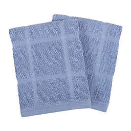 KitchenSmart® Colors Solid Dish Cloths in Capri (Set of 2)
