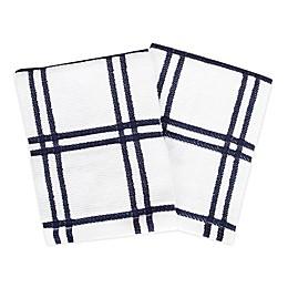 KitchenSmart® Colors Plaid Dish Cloths (Set of 2)