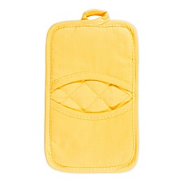 KitchenSmart® Colors 2 Solid Pocket Pot Mitt in Canary