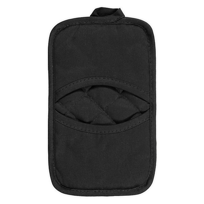Alternate image 1 for KitchenSmart® Colors 2 Solid Pocket Pot Mitt in Black