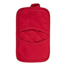 KitchenSmart® Colors 2 Solid Pocket Pot Mitt in Red