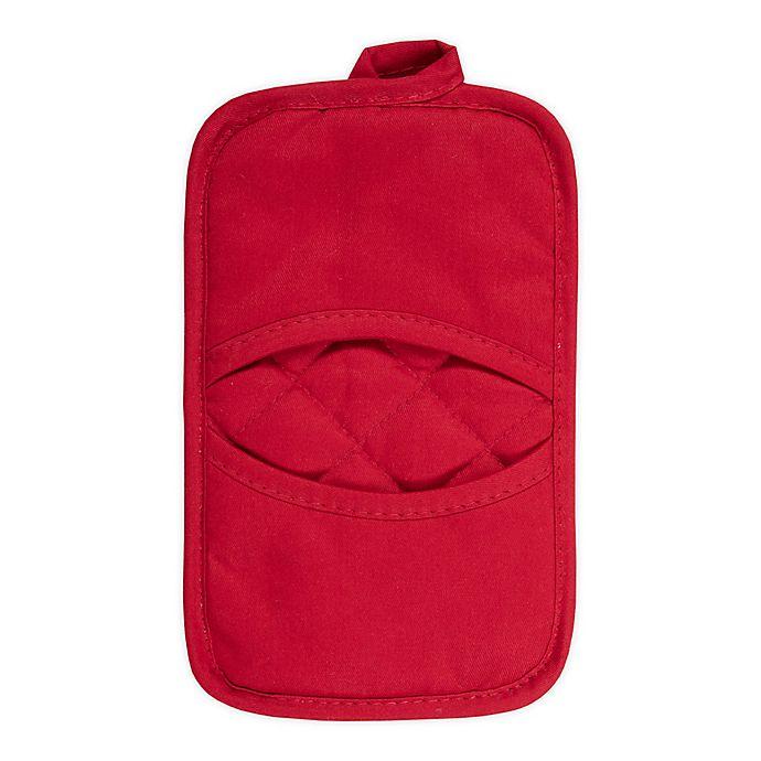 Alternate image 1 for KitchenSmart® Colors 2 Solid Pocket Pot Mitt in Red