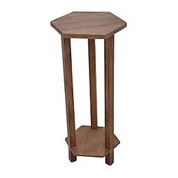 Global Caravan™ Wooden Hexagon Drink Table