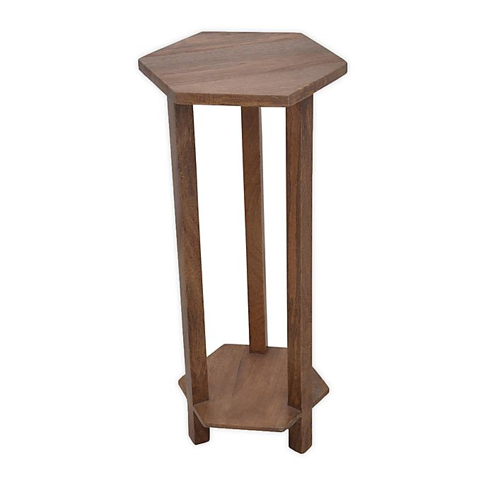 Alternate image 1 for Global Caravan™ Wooden Hexagon Drink Table