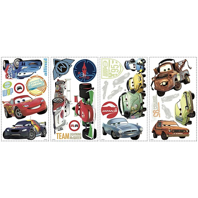 Roommates Disney Cars 2 L And Stick Wall Decals