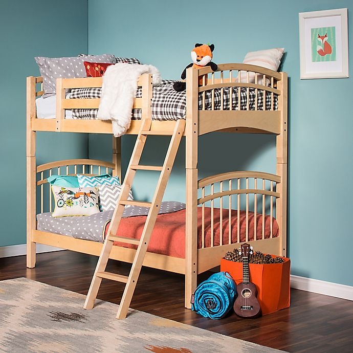 Alternate image 1 for Epoch McKenzie Hard Wood Twin Over Twin Bunk Bed