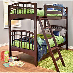 Epoch McKenzie Hard Wood Twin Over Twin Bunk Bed in Coffee
