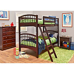 Epoch McKenzie 3-Piece Twin Over Twin Bunk Bed Set in Coffee