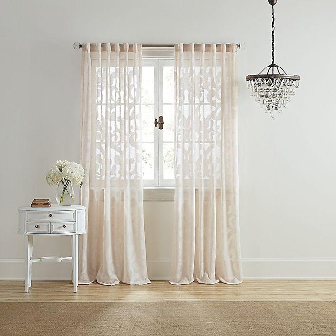 Alternate image 1 for Wamsutta® Vintage Ellesmere Rod Pocket/Back Tab Window Curtain Panel