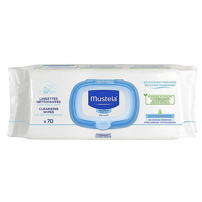 Alternate image 1 for Mustela® 70-Count Cleansing Baby Wipes
