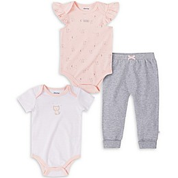 Absorba® 3-Piece Cats Bodysuit and Pant Set in Pink/Grey