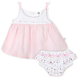 Just Born® 2-Piece Love and Sugar Dress and Bloomer Set in Pink