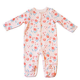Sterling Baby Size 9M Tulip Print Coverall in White/Pink
