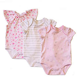 Sterling Baby 3-Pack Short Sleeve Bodysuits