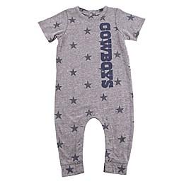 NFL Dallas Cowboys Infant Bradshaw Short Sleeve Jumpsuit in Heather Grey