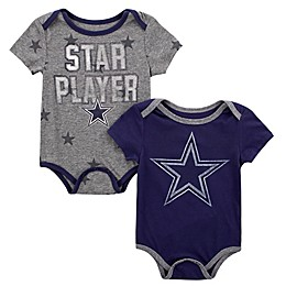 NFL Dallas Cowboys Infant Mayfield 2-Piece Bodysuit Set in Navy/Heather Grey