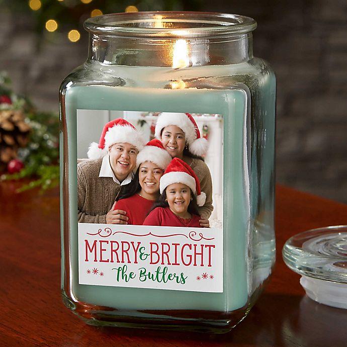 Alternate image 1 for Whimsical Christmas Personalized Eucalyptus Spa Candle Jar