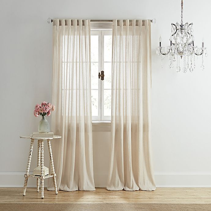 Alternate image 1 for Wamsutta® Vintage Coventry 84-Inch Rod Pocket/Back Tab Window Curtain Panel in Linen