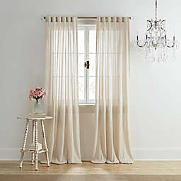 Wamsutta® Vintage Coventry 95-Inch Rod Pocket/Back Tab Window Curtain Panel in Linen