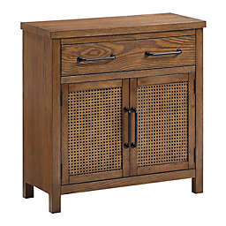 Bee & Willow™ Home Cane 2-Drawer Cabinet in Walnut
