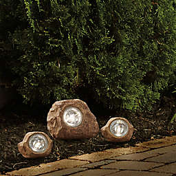 Solar Rock Landscaping Spotlights (Set of 3)