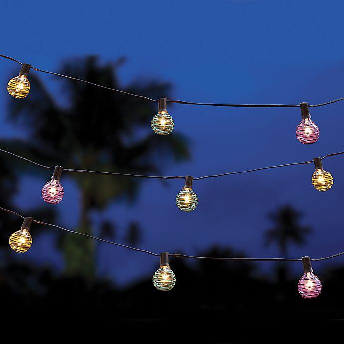 Alternate image 1 for Multi-Colored Threaded Ball String Lights
