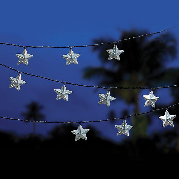 Alternate image 1 for Decorative 10-Count Star String Lights