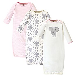 Touched by Nature® 3-Pack Elephant Organic Cotton Sleep Gowns in Grey