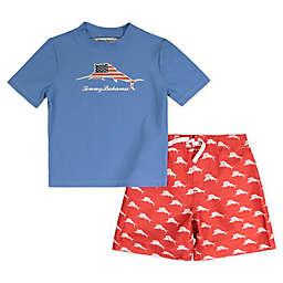 Tommy Bahama® Size 12M 2-Piece Americana Rashguard and Swim Trunks Set