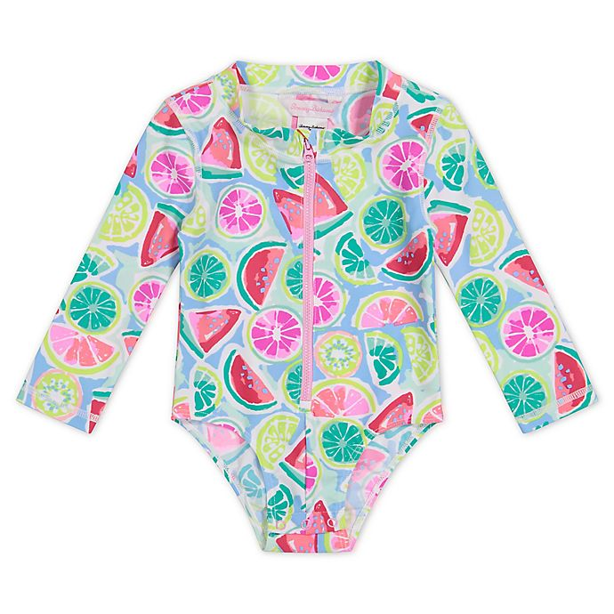 Alternate image 1 for Tommy Bahama® Watermelon One-Piece Rash Guard