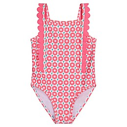 Tommy Bahama® Scalloped 1-Piece Swimsuit in Coral
