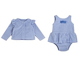Kyle & Deena 2-Piece Tutu Bodysuit and Ruffle Cardigan Set in Periwinkle