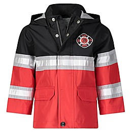 London Fog® Fireman Hooded Rain Jacket in Red