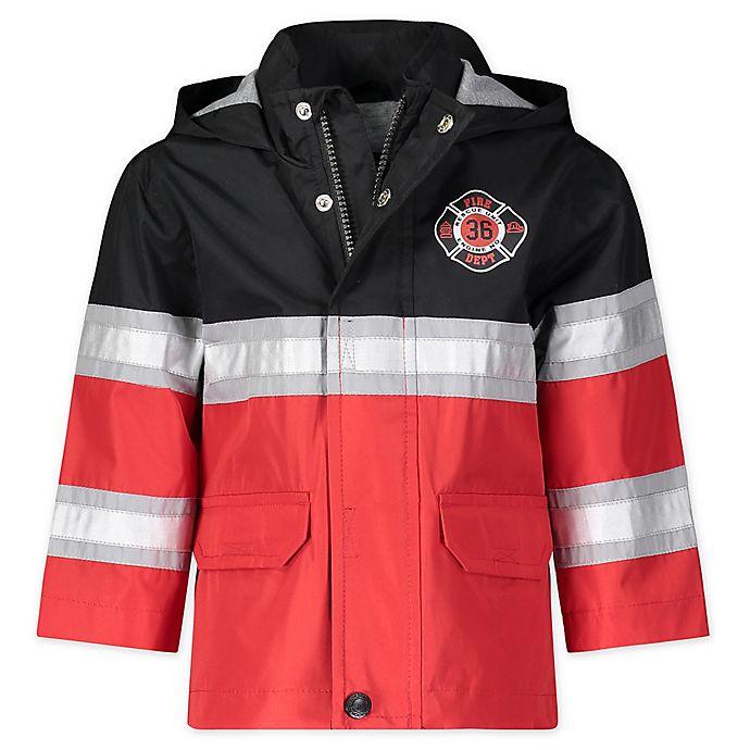 Alternate image 1 for London Fog® Fireman Hooded Rain Jacket in Red