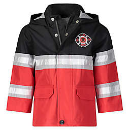 London Fog® Size 4T Fireman Hooded Rain Jacket in Red