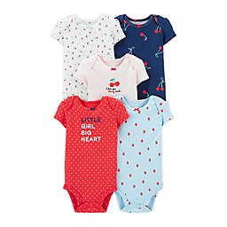 carter's® Preemie 5-Piece Cherries Short Sleeve Bodysuits