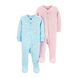 carter's® Preemie 2-Pack Sleep 'N Plays in Blue/Pink