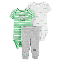 carter's® Preemie 3-Piece Alligator Bodysuits and Pant Set