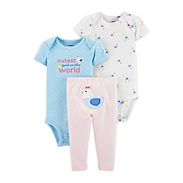 carter's® Preemie 3-Piece Hen Bodysuits and Pant Set