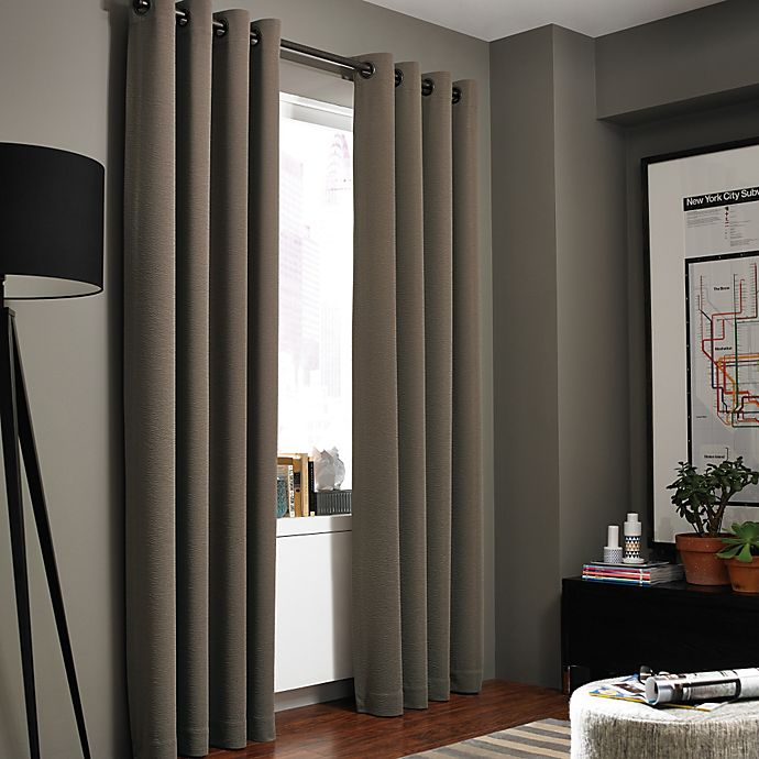 Alternate image 1 for Kenneth Cole Gotham Grommet Room Darkening Window Curtain Panel