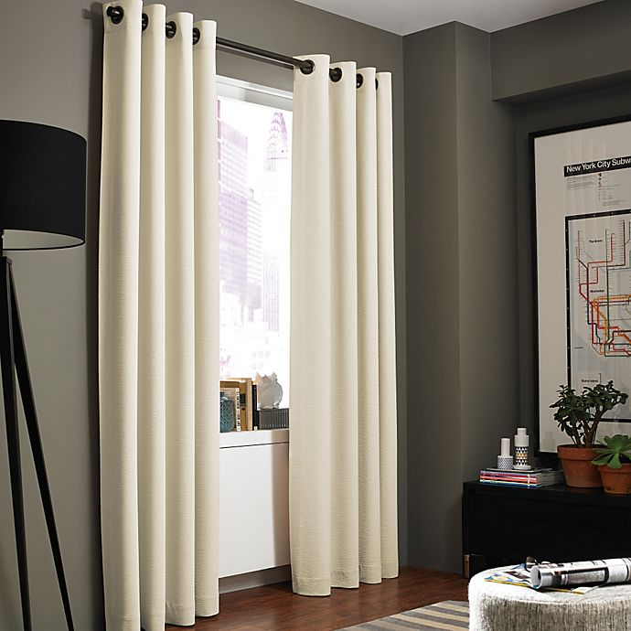 Alternate image 1 for Kenneth Cole Reaction Home Gotham Texture Lined Grommet Window Curtain Panel