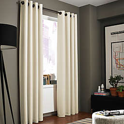 Kenneth Cole Gotham 95-Inch Grommet Room Darkening Window Curtain Panel in Chalk