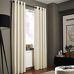 Kenneth Cole Gotham 84-Inch Grommet Room Darkening Window Curtain Panel in Chalk