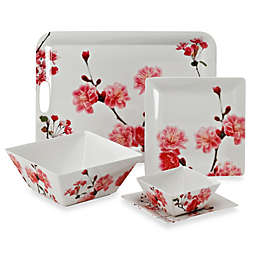 Cherry Blossom Photoreal Square Melamine Dinnerware Collection