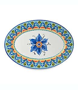 Charola con diseño artesanal de 50.8 cm en azul