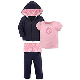 Yoga Sprout Size 4T 3-Piece Moroccan Jacket, Tee Top, and Pant Set in Blue/Pink